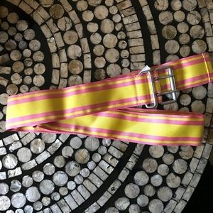 Pink and yellow striped Large Gap Belt